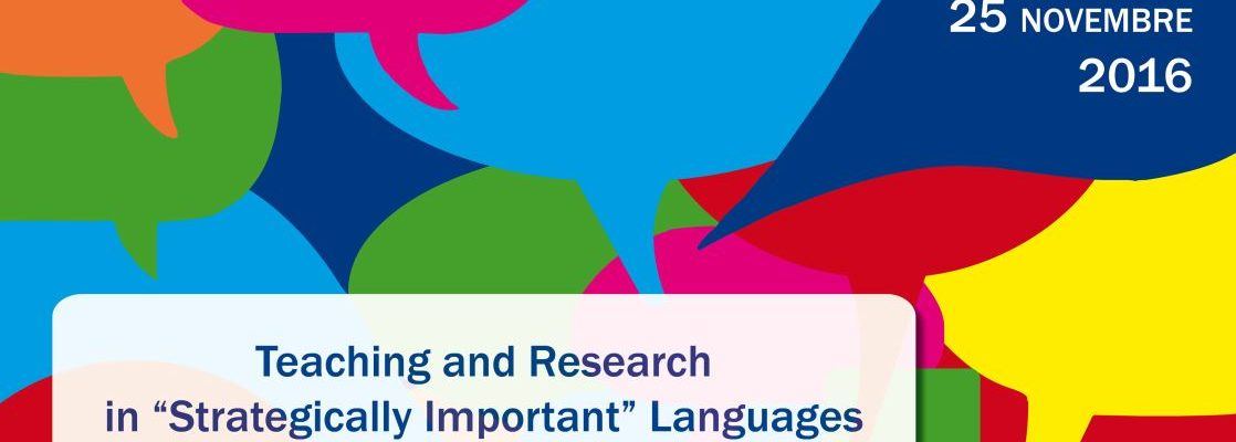 """Teaching and Research in """"Strategically Important"""" Languages"""